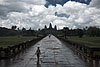 Cooling Rain Photo: A mid-day shower clears the throngs of tourists and leaves Angkor Wat temple relatively empty.