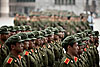 People's Army Photo: Army training at a university in Changsha.  Apparently, it's compulsory for all Chinese college students to undergo some form of military training as part of their first year of school.