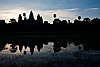 photo: Grassy Puddle (Angkor Wat Temples Part I) - Angkor Wat's silhouette reflected in a pool of rainwater.