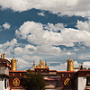 Smoke & Clouds (The Barkhor II) Photo: Jokhang Temple, the religious heart of Old Lhasa.  Pilgrims from all corners of Tibet make their way to Lhasa to circumambulate three times around this temple complex.