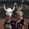 Miao Village (Miao II) Photo: Miao ethnic minority women await their part to dance in a local festival.