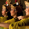 Hands & Faces (Legong Dance I) Photo: Performers caught in a moment during a Balinese Legong dance.