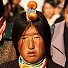 Hair Ornament Photo: Tibetan woman marching around the Barkhor, Lhasa's religious heart.