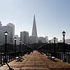 Pier & Pyramid Photo: The Transamerica Building located in the financial district of downtown San Francisco.