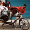 photo: The Short Rickshaw - A gaggle of elementary school girls pile into a cycle rickshaw to get their learn on.