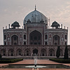 Grandiose Grave Photo: A morning stroller walks around Humanyun's Tomb, resting place of India's 2nd Mughal emperor.