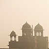 Smoky Morning Photo: The Red Fort's south wall pictured from a distance.