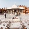 Center Court Photo: Panorama of Jama Masjid Courtyard.