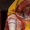 Marital Status Photo: Traditional Rajasthani women display their upper armlets.
