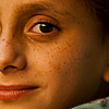 photo: Ginger Juveniles - A young redheaded Kashmiri girl poses for a portrait.