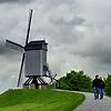Windmill Walkers Photo: Tourists descend down a path after visiting a model windmill.