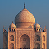 Fiery Fantasy Photo: The Taj Mahal reflected in a fountain at sunrise.  (From the archives due to time constraints)