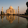 Low Road Photo: A unique angle of the Taj Mahal and its reflection at sunrise.  (From the archives due to time restraints.)