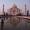 Evening Exodus Photo: Long exposure of the Taj Mahal at closing time.  (From the archives due to time restraints.)