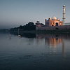 Bathing Birds Photo: Yellow billed storks walk in the Jamuna river next to the Taj Mahal at sunset.  (From the archives due to time restraints.)