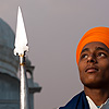 Spear Soldier Photo: A young Sikh man at the Paonta Sahib Gurudwara.  (From the archives due to time restraints.)