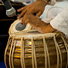Paonta Percussions Photo: Sikh musicians play during gurudwara services.