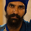 Blanketed Blue Photo: Well-dressed Sikh officer at the Paonta Sahib Gurduwara.