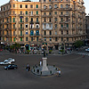 photo: Circular Square - Midan Talaat Harb square traffic circle in the evening (archived photos on the weekends).