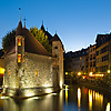 Island Palace Photo: Palais de l'isle, the old prison, situated along the main canal in Annecy.