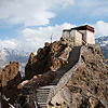Himachal Heights Photo: Watchtower at the old Dhankar monastery surrounded by the Himalayas and Spiti Valley below (archived photos, on the weekends).