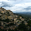 Grand Gordes Photo: Panorama of a beautiful hilltop village among the fields of Provence.