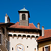 Gated Community Photo: Sainte-Claire gate and clock tower in historic old town of Annecy.