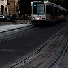 Final Tram Photo: A tram on Rue de la Corraterie in downtown Geneva.