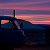 Anywhere Abode Photo: A van outside a ger, a nomadic house, at sunset on the Mongolia plains (ARCHIVED PHOTO on the weekends - originally taken 2007/07/17).