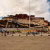 Potala Pano (panorama inside) Photo: The Potala Palace seen from the Potala Square in Lhasa (ARCHIVED PHOTO on the weekends - originally photographed 2007/10/17).