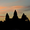 Sunrise Silhouette Photo: Silhouette of Angkor Temple at the Angkor Wat complex in Siem Reap, Cambodia (ARCHIVED PHOTO on the weekends - originally photographed 2007/05/17).