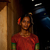 Dhaba Worker Girls Photo: An Indian restaurant (aka dhaba) girl stands against the wall of the kitchen (ARCHIVED PHOTO on the weekends - originally photographed 2009/03/29).