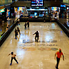 Ice Skating Mall Photo: A temporary ice skating rink inside downtown Bangkok's Central World Mall.