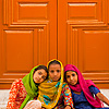 photo: Young Sikh Girls - Cute Sikh girls sit in front of a Gurudwara door (ARCHIVED PHOTO on the weekends - originally photographed 2009/05/23).