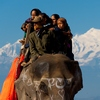 Himalayan Elephant Photo: Nepali tourists take an elephant ride among the Himalayan mountains (ARCHIVED PHOTO on the weekends - originally photographed 2007/12/17).