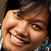 photo: Smiley Thai Gal - A Thai girl (and couchsurfing.org member) poses at a photography session in downtown Bangkok.