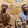 Street Cafe Egyptians Photo: Egyptians enjoy a sheesha and tea at a makeshift street cafe (ARCHIVED PHOTO on the weekends - originally photographed 2010/10/11).