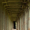 Angkor Temple Hallway Photo: A hallway lined with beautifully repeating columns, located adjacent to Angkor Temple (ARCHIVED PHOTO on the weekends - originally photographed 2007/05/19).