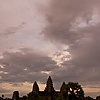 Angkor Temple Towers Photo: A beautifully colored sunset at Angkor Wat immediately following a downpour (ARCHIVED PHOTO on the weekends - originally photographed 2007/05/18).
