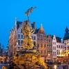 photo: Antwerp Grote Markt Square - The Brabo statue fountain and the Church of Our Lady in Antwerp's Grote Markt square (ARCHIVED PHOTO on the weekends - originally photographed 2010/03/25).