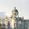 Ananta Samakhom Throne Hall Photo: A beautiful sky at the Ananta Samakhom Throne Hall in the Dusit Palace complex in Bangkok.