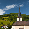 Hilly Hamlet Photo: A small picturesque village placed on a beautiful rolling hill near the Swiss border.