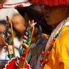 Tibetan Reception Photo: A pair of traditionally dressed Tibetans wait to receive the Dalai Lama before a speech to Tibetan youth in Dharamsala, India (ARCHIVED PHOTO on the weekends - originally photographed 2009/06/24).