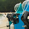 Snorkel Scooter Photo: Personal underwater snorkeling crafts for rent on the beach in Borneo, Malaysia (ARCHIVED PHOTO on the weekends - originally photographed 2006/09/11).