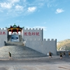 Pavilion Passage Photo: Military personnel exercise around the Thanksgiving Pavilion on Dongyin Island of the Matsu Islands in Taiwan.