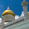 Golden Domes Photo: The inner courtyard and footbath at the Sultan Omar Ali Saifuddin Mosque in Brunei (ARCHIVED PHOTO on the weekends - originally photographed 2006/09/14).