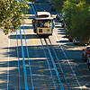 Cabled Climb Photo: A cable car climbs on one of the steepest sections of the cable car tracks in San Francisco.