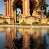 Salmon Centerpiece Photo: A pond reflects the salmon-colored central dome structure at the Palace of Fine Arts in San Francisco.