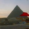 Pyramid Pizza Photo: The view of the Giza pyramids from the Pizza Hut across the street (ARCHIVED PHOTO on the weekends - originally photographed 2003/11/28).
