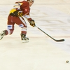 Ice Action Photo: A Geneva-Servette player receives a pass during a Swiss professional league ice hockey game.